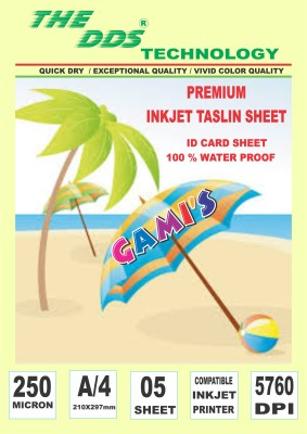 DDS Inkjet TASLIN ID CARD 5 sheet pack A/4 Printer Paper(Set of 1, White)