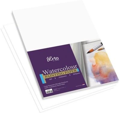 Campap Arto Cold Pressed, 100% Cellulose Acid Free A3 Watercolor Paper Set of 1, White