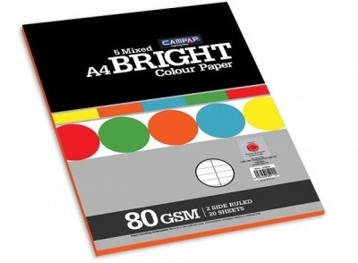 Campap Bright Unruled A4 Multipurpose Paper(Set of 1, Assorted)