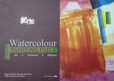 Campap Arto Cold Pressed, 100% Cotton Acid Free A4 Watercolor Paper Set of 1, White