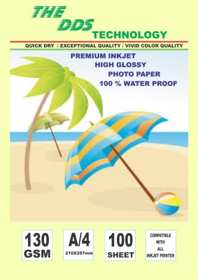 DDS Photo Paper 100.SHEET Unruled A4 Inkjet Paper
