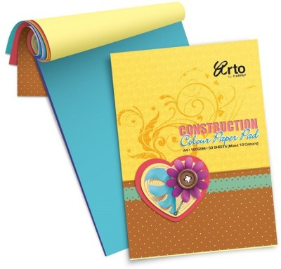 Campap Arto Unruled A4 Coloured Paper Set of 1, Multicolor Campap Art   Craft