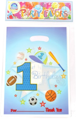 Funcart Sporty At 1 Small Printed Party Bag(Blue, Pack of 6)  available at flipkart for Rs.165