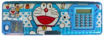 Hyde & Seek Doraemon cartoon Art plastic Pencil Box(Set of 1, Blue)