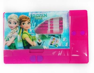 Cloud9JP Jumbo NA Art Plastic Pencil Box(Set of 1, Pink)