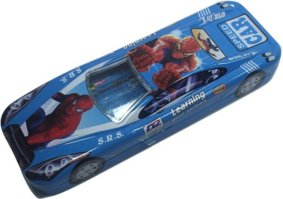 Siltason Shakti SPIDER-MAN CARTOON CHARACTER Art METAL Pencil Box(Set of 1, Blue)