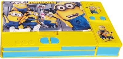 Sae Fashions Minion Movie Character Art Plastic Pencil Box(Set of 1, Multicolor)