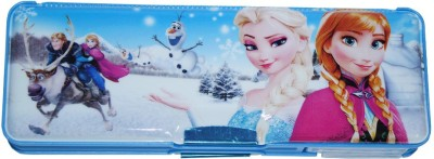 Dream Bag Frozen Print Art Plastic Pencil Box(Set of 1, Light Blue)