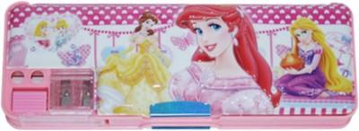 Dream Bag Sofia Print Art Plastic Pencil Box(Set of 1, Pink)
