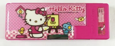 Disney hello kitty hello kitty Art plastic Pencil Box(Set of 1, pink)