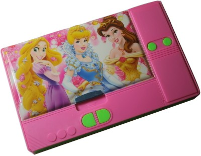 Siltason Shakti PRINCES CARTOON CHARACTER Art PLASTIC Pencil Box(Set of 1, PINK & GREEN)
