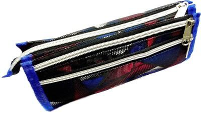 Palakz Designer 3 Chain Pouch Art Nylon Pencil Box(Set of 1, Multicolor)