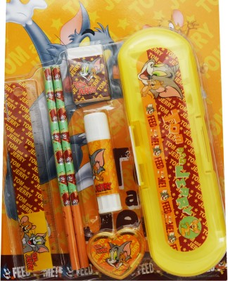 Warner Bros. Tom & Jerry plastic Pencil Box(Set of 7, Yellow)  available at flipkart for Rs.399