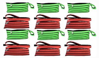 ENERZY Multicolor vibrant color Art Fabric Pencil Box(Set of 12, Red, Green)