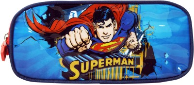Superman School Plastic Pencil Box(Set of 1, Blue)