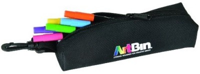 Artbin Sketch Swivel Clip Art Durable Poly Canvas Pencil Box(Set of 1, Black)