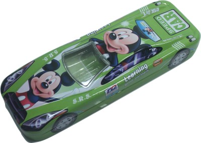 Siltason Shakti MICKEY MOUSE CARTOON CHARACTER Art METAL Pencil Box(Set of 1, Green)