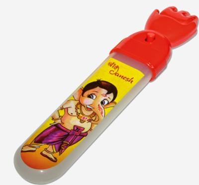Buddyz Ganesh Plastic Pencil Box(Set of 1, Red)