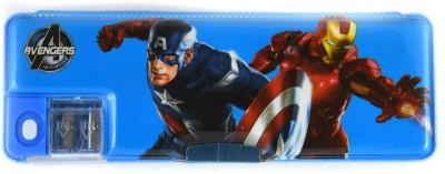 Funmatic Inbuilt Sharpner Avengers Art Plastic Pencil Box(Set of 1, Blue)