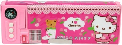 Hello Kitty School Plastic Pencil Box(Set of 1, Multicolor)