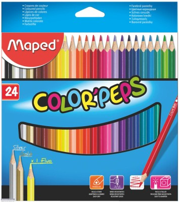 Maped Color Box Round Shaped Pencils(Set of 24, Multicolor)  available at flipkart for Rs.215