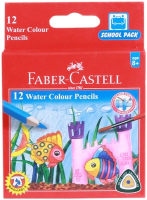 Faber-Castell School Water Color Round Shaped Pencils(Set of 12, Multicolor)