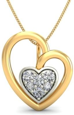 Belle Diamante 14kt Yellow Gold Pendant Belle Diamante Pendants   Lockets