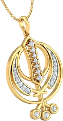 JEWELSNEXT Faith 18kt Diamond Yellow Gold Pendant JEWELSNEXT Pendants   Lockets