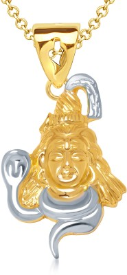 VK Jewels Lord Shiva Yellow Gold Cubic Zirconia Alloy Pendant