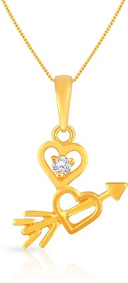 Malabar Gold and Diamonds 22kt Cubic Zirconia Yellow Gold Pendant