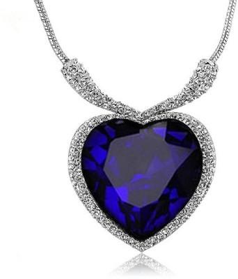 Avaatar 2 Carat Yellow and Blue sapphire Metal Pendant