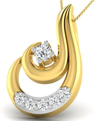His & Her HHP10029 18kt Diamond Yellow Gold Pendant(Yellow Gold Plated) at flipkart