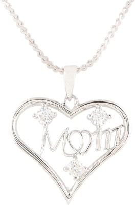 Swasti Jewels Mom And Kid Eternal Love Gift Collection Rhodium Cubic Zirconia, Zircon Metal Pendant  available at flipkart for Rs.999
