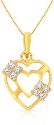 Malabar Gold and Diamonds PDSGHTYA0034 22kt Cubic Zirconia Yellow Gold Pendant