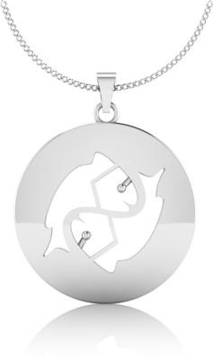 IskiUski Pisces Zodiac 14kt White Gold Pendant