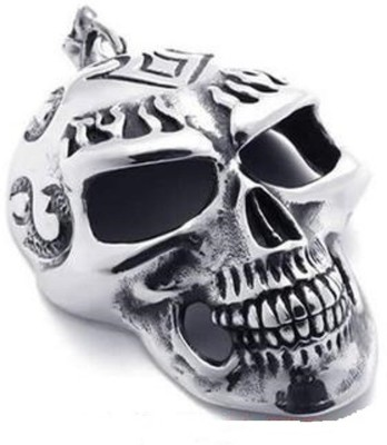 Vaishnavi Titanium Finished Stylish Skull Design Punk Biker Never Rusts Stay Life Long Made Of 316l Stainless Steel Pendant at flipkart
