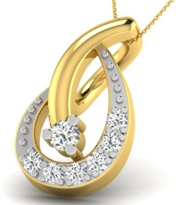 Fullcutdiamond FCDP9746D 18kt Diamond Yellow Gold Pendant(Yellow Gold Plated) at flipkart