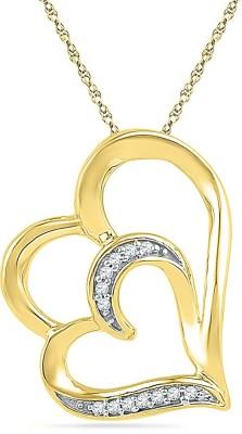 JPearls Luscious Hearts 18kt Diamond Yellow Gold Pendant