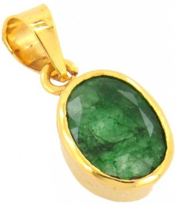 SMS Retail 4.25 Ratti Copper Emerald Stone Pendant at flipkart