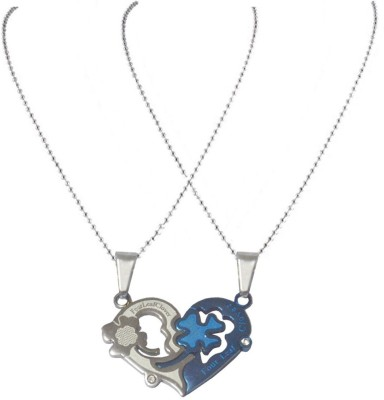 Men Style Sweethearts Couples His And Her Four Leaf Clover Neckalance for best gift ASPn07052 Stainless Steel Pendant at flipkart