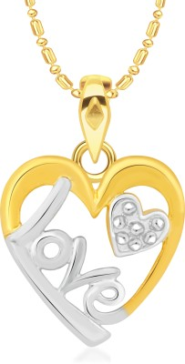 VK Jewels Love Heart Gold-plated Cubic Zirconia Alloy Pendant