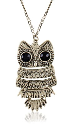 Cinderella Collection By Shining Diva Long Chain Owl Alloy Pendant