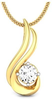 Samaira Gem and Jewelery Solitaire Forever 14kt Swarovski Crystal Yellow Gold Pendant Samaira Gem and Jewelery Pendants   Lockets