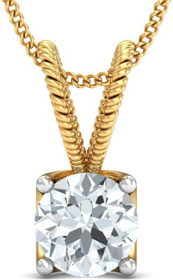Samaira Gem and Jewelery Love Forever   Solitaire 14kt Swarovski Crystal Yellow Gold Pendant Samaira Gem and Jewelery Pendants   Lockets
