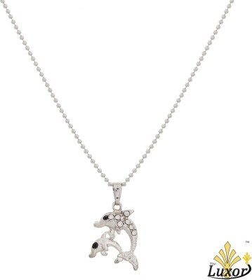 Luxor Fashionable Dolphin Shape Silver Plated Pendant Alloy