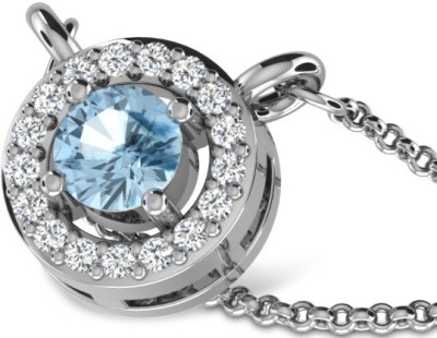 His & Her Beautiful Sterling Silver Diamond Sterling Silver Pendant at flipkart