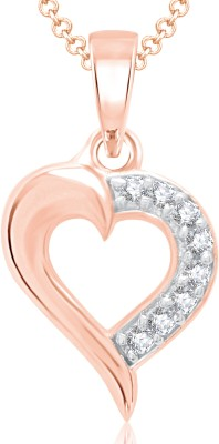 VK Jewels Valentine Heart Gold-plated Cubic Zirconia Alloy Pendant