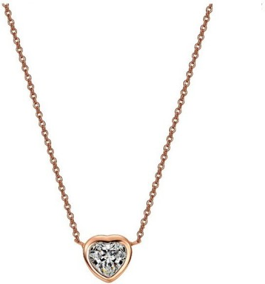 WearYourFashion Austrian Heart Gold-plated Crystal Alloy Pendant