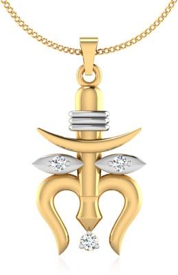 IskiUski The Shivay Durga Diamond 22K Yellow Gold Swarovski Zirconia Sterling Silver Pendant