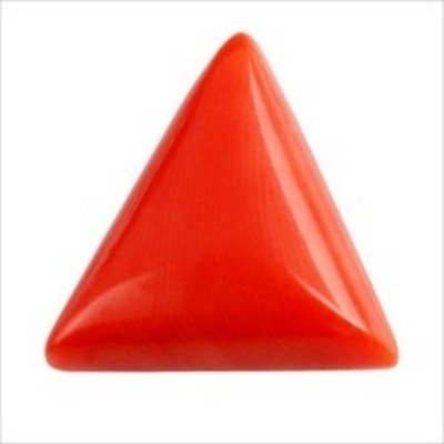 Malabar Gems 7 Ratti / 6.50 Carat Triangle Red Coral Certified Coral Stone at flipkart